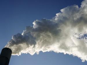 Schoorsteen van een kolencentrale - Foto- Jerry Lampen:ANP