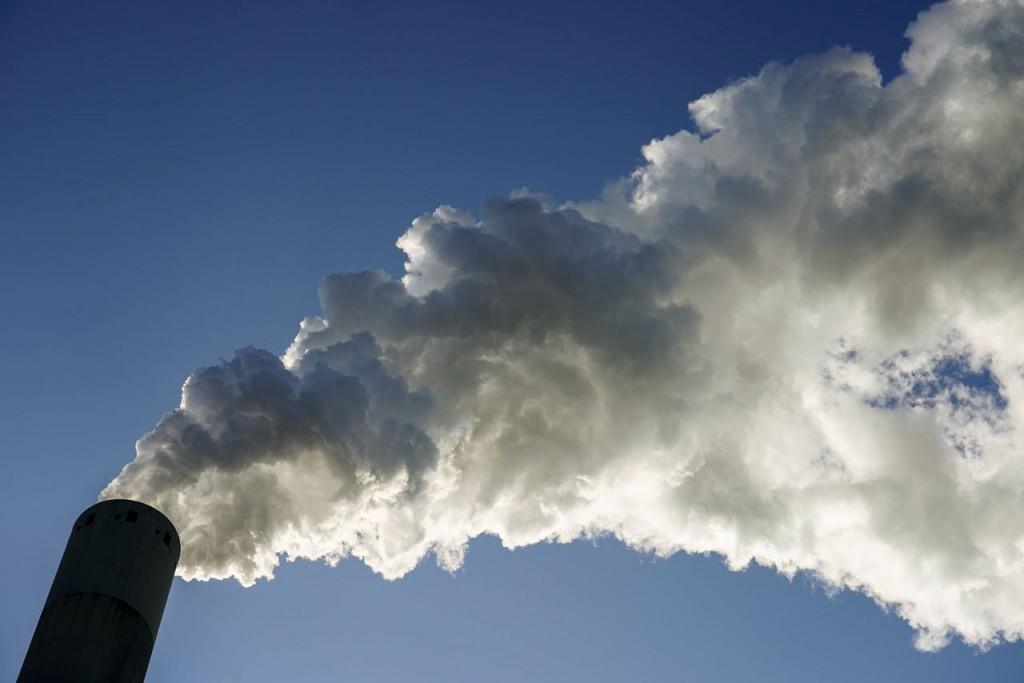 Schoorsteen van een kolencentraleFoto- Jerry Lampen:ANP
